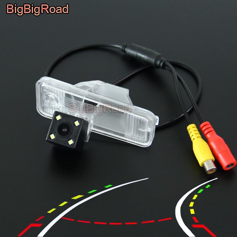 BigBigRoad Car Intelligent Dynamic Trajectory Tracks Rear View Camera For Hyundai Santa Fe SantaFe 2009 2012