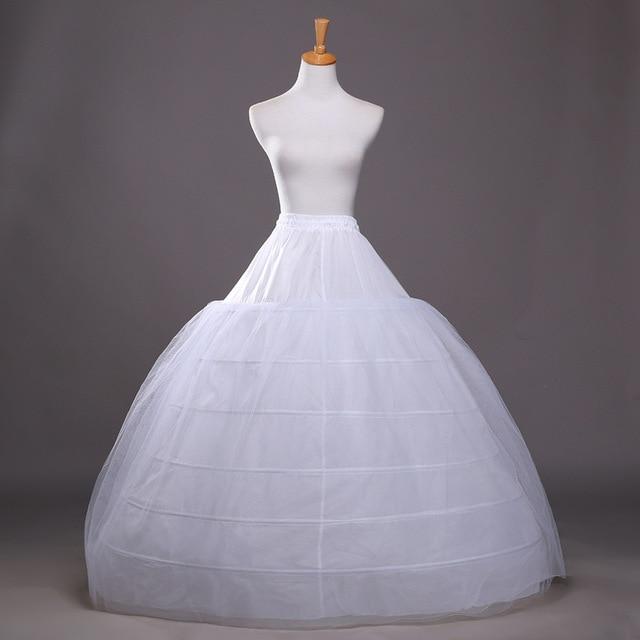 110-120cm Diameter Underwear Crinoline 6 Hoop Petticoat For Ball Gown Dress Wedding Accessories Wedding Dresses Underskirt