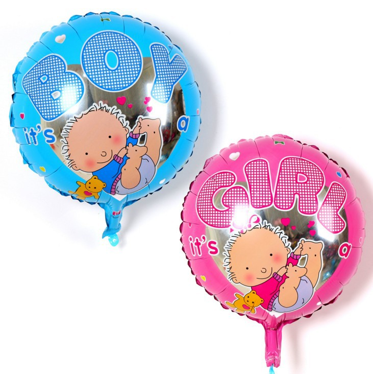 New Lovely Cartoon Boy Girl Pattern Foil Helium Balloon Its A Boy Girl Baby Shower First Birthday Party Decor Kids Toy
