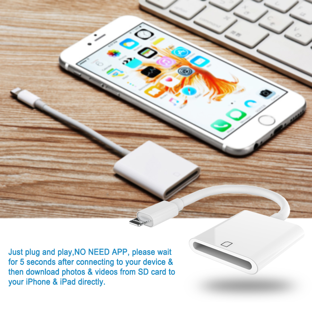 ipad iphone Micro SD Card Reader Adapter for lightning OTG Digital Camera Card Reader For iPhone X/XR/8/7/6plus For iPad/iPod/iOS9.2-12.1 (3)