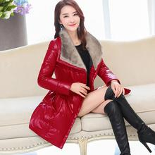 M-4XL !! Women Leather Jackets With Fur  Ms. Fashionable Luxurious Collars Cultivate One's Morality Leather Winter Jacket Women