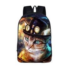 Купить с кэшбэком Teen Cartoon 3D Animal Pattern Knapsack Women Men Travel Bags  Daily Back pack  laptop Backpacks Boys Girls Anime Book Bags Gift