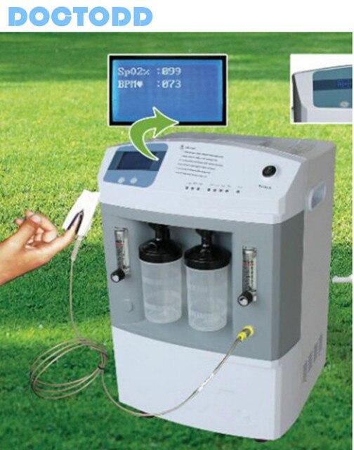Dual Bottles 5L Oxygen Concentrator PSA Medical 0-5Lpm COPD OG W/ Wheels Casters CE Approved O2 Generator