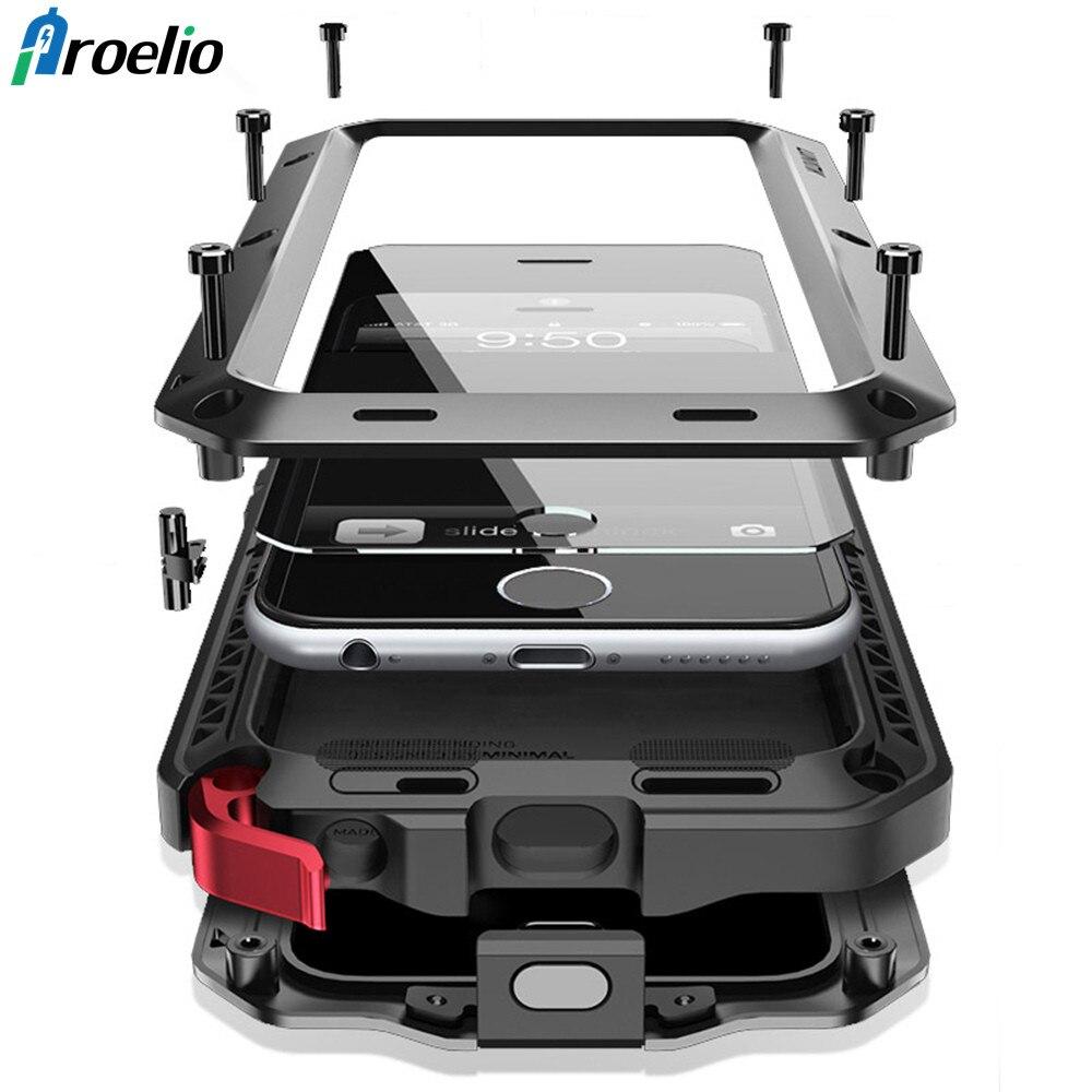 Proelio Luxury Doom Armor Heavy Duty Case Metal Case Shockproof Cover For Samsung S5 S6 S6 edge S7 S8 S8 S9 Plus Note 8 5 case
