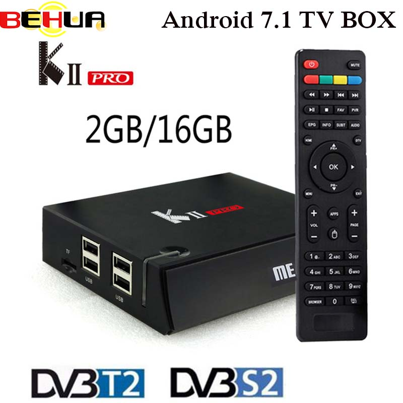 DVB T2+S2 KII Pro Android TV Box Amlogic S905 Quad-core Bluetooth 4.0 2GB/16GB 2.4G/5G Dual Wifi 4K Smart Media Player KIIPro цена