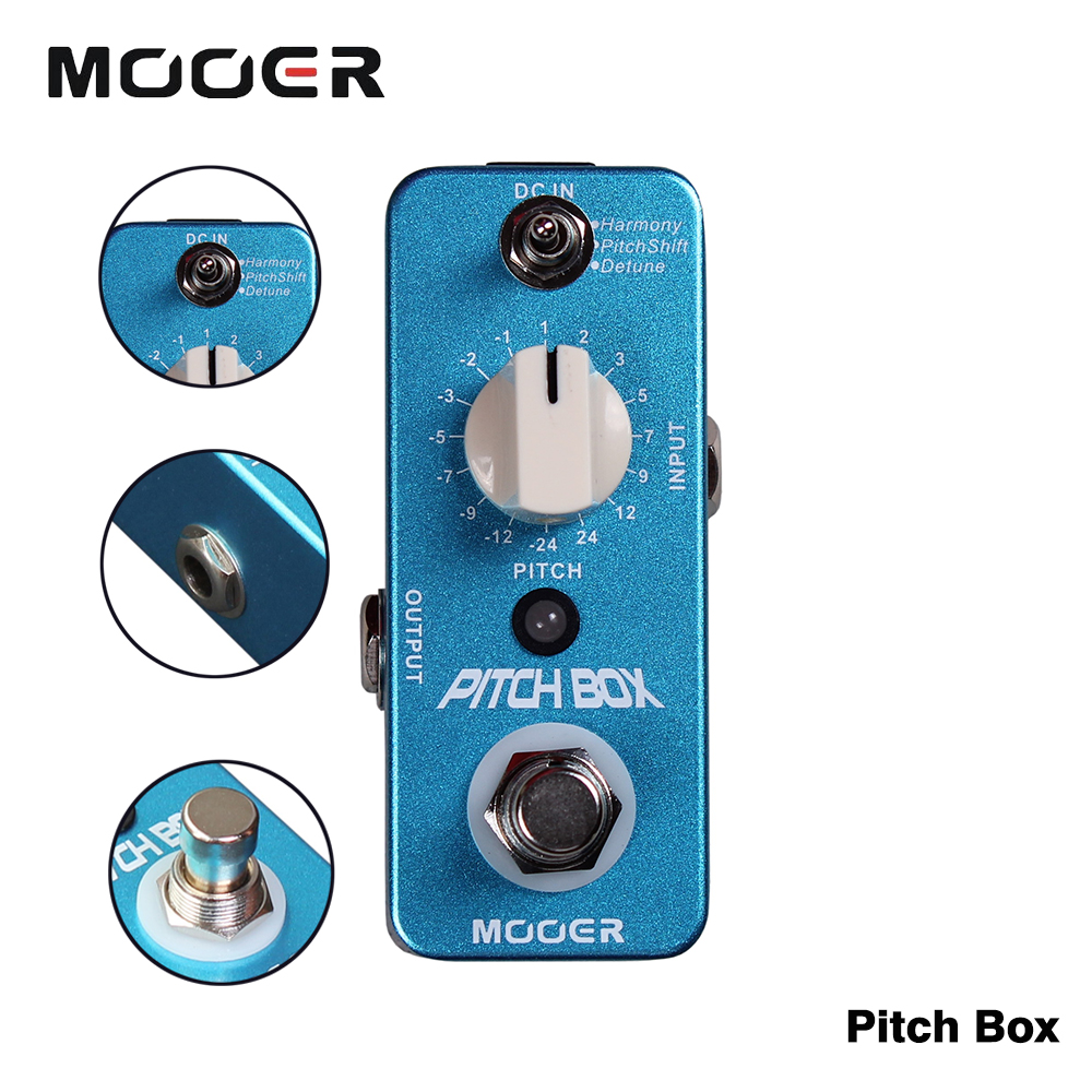 Mooer Full Metal Shell Pitch Box Digital Phase Effect Pedal  3 Modes Harmony/Pitch Shift/Detune fifth harmony acapulco