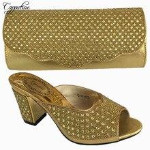 Capputine Nigerian Desgin Shoes And Matching Bag Set Hot Sale Italian Woman Pumps Shoes And Bag Set For Party 6Colors BL715C
