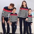 Полоса активным семья одежда / мать и дочь отец сына одежда семья одежда соответствующие семейный комплект одежды TT01