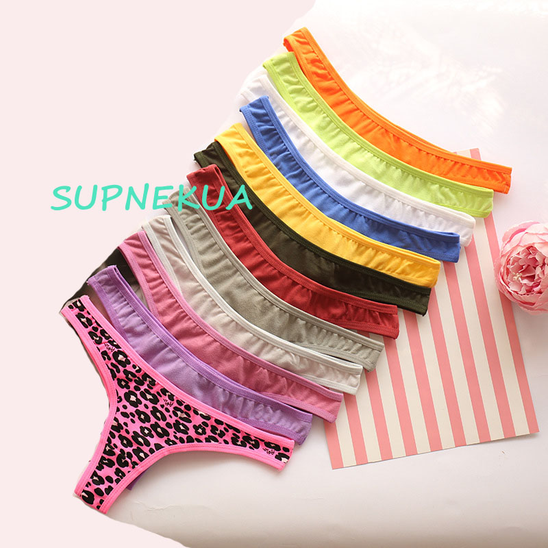Girl G String Solid Color Teenage Underwear Panties Calcinhas Breathable Young Girls Lingerie Girl Thong Cotton Bandage