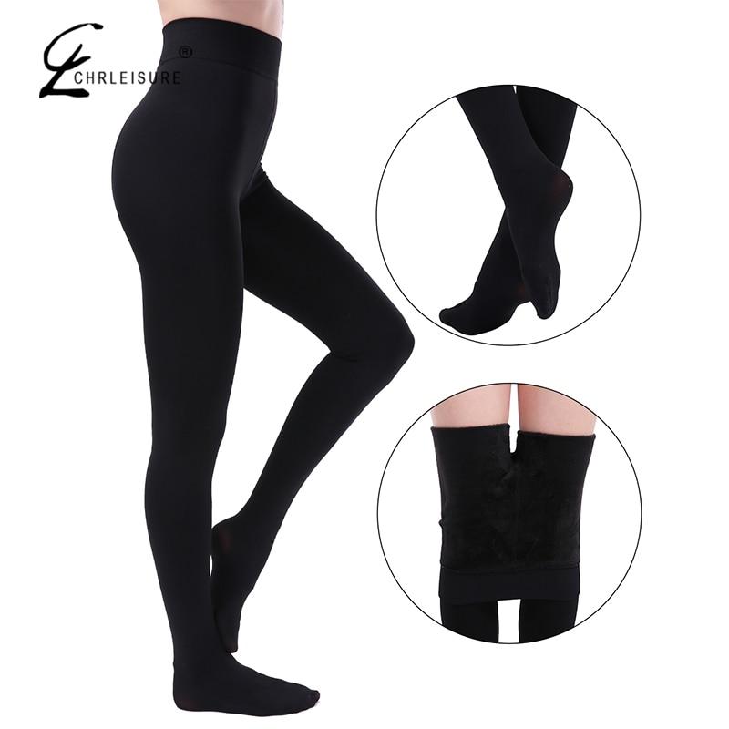 CHLEISURE 5 Color Winter Warm Leggings Women High Waist Velvet Legging Solid Plus Size Autumn Leggings S-3XL