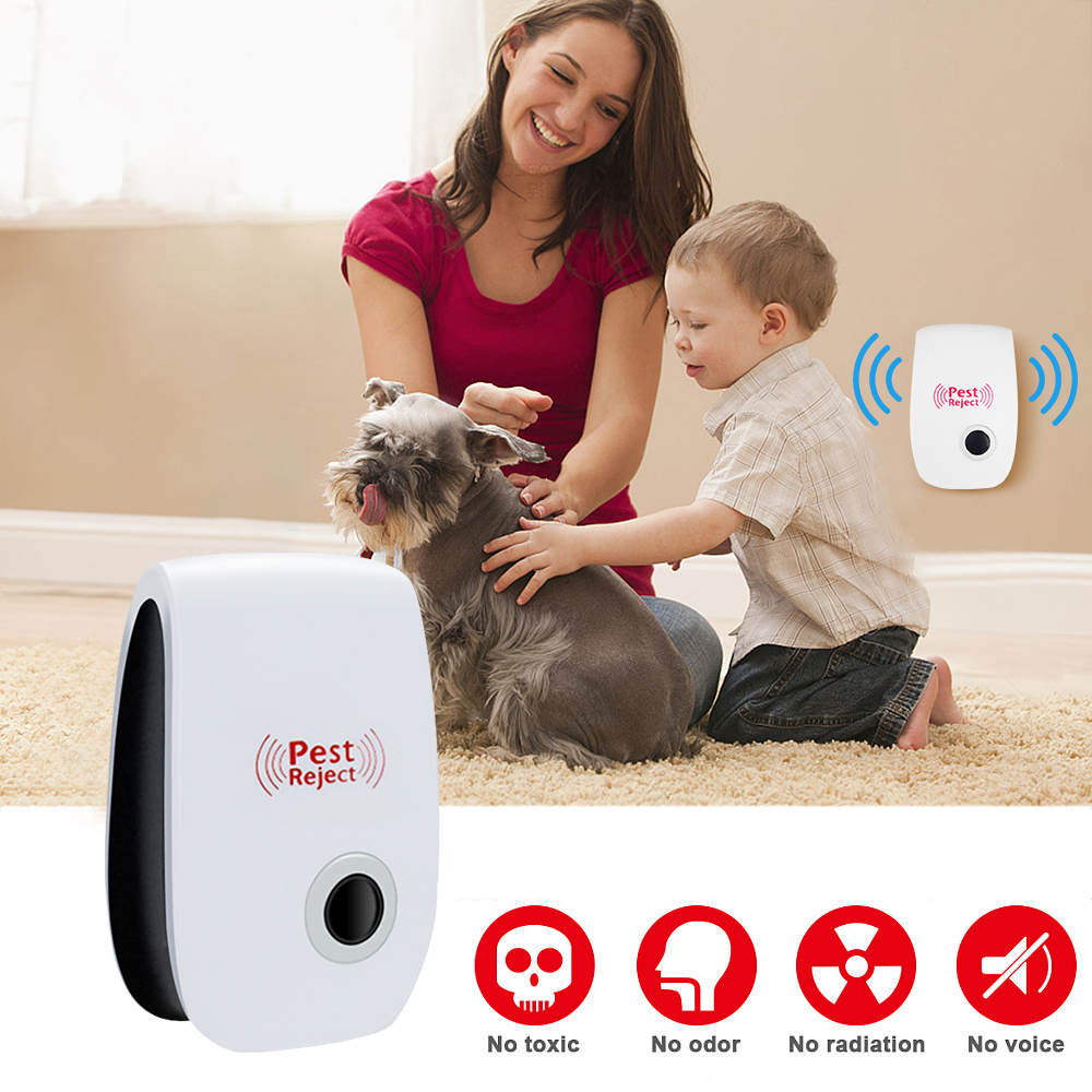 Ultrasonic Electronic Mosquito Killer Lamp Ultrasonic Anti Mosquito Insect Killer Repeller Rat Mouse Cockroach Reject Repellent in Repellents from Home Garden