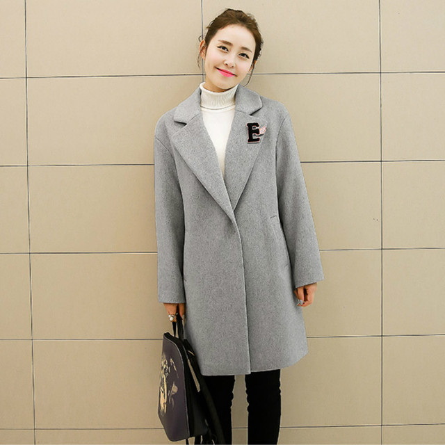 2016 New version spring and autumn maternity clothing long wool tweed coat cashmere maternity coat Pregnant women  warm  jacket