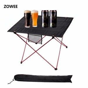 Image 1 - Mesa de acampamento ao ar livre mesa de piquenique de liga de alumínio à prova dwaterproof água ultra leve durável dobrável mesa para piquenique & acampamento