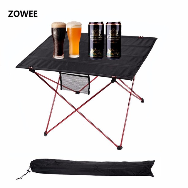 Outdoor Camping Table Camping Aluminium Alloy Picnic Table Waterproof Ultra light Durable Folding Table Desk For Picnic& Camping