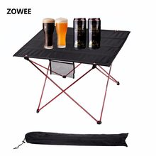 Outdoor Camping Table Camping Aluminium Alloy Picnic Table Waterproof Ultra-light Durable Folding Table Desk For Picnic& Camping(China)