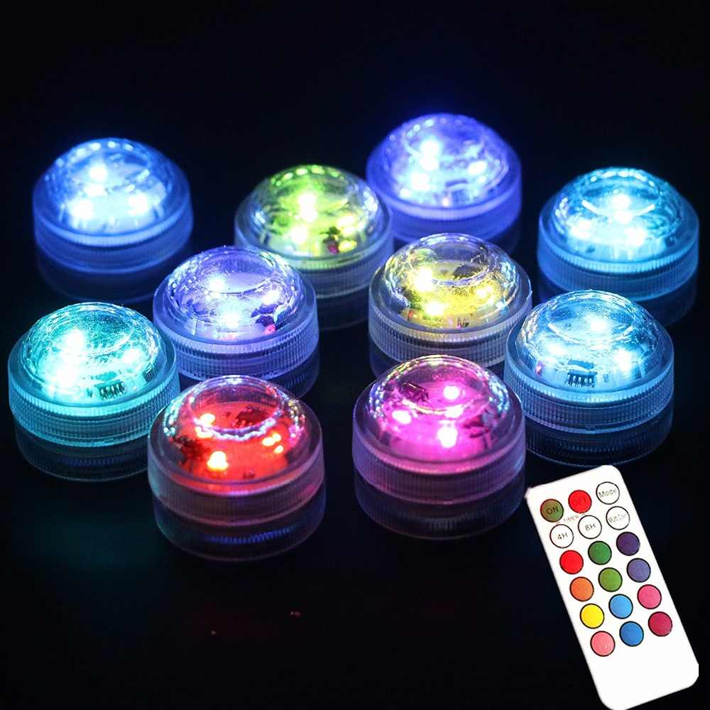 20 Pcs Lot Por Waterproof Small Battery Operated Single Mini Led Submersible Lights For Crystal