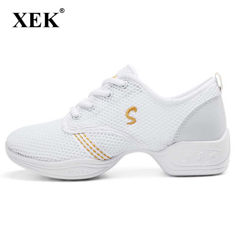 Sneakers Xek New Sports Feature Soft Outsole Breath Dance Shoes Sneakers For Woman Practice Shoes Modern Dance Jazz Shoes Gss85 Firm In Structure Sports & Entertainment