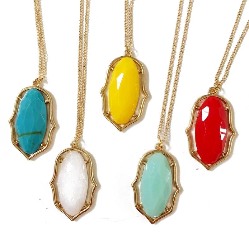 Designer Inspired Oval Resin Statement Pendant Necklace For Women Fashion Geometric Summer Jewelry Wholesale Designer Necklace Fashion Necklacenecklace Designer Aliexpress