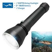 SKYRAY DX6 10000LM 6X CREE XM L2 LED 200M Diving Scuba 18650 Flashlight Torch