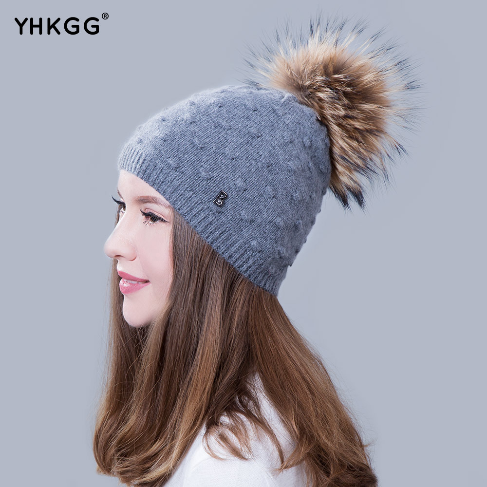 2017  fashion  ms warm winter wool hat knitting hat wool hat hat with the bulb cute cartoon bear ms qiu dong the day man with thick warm knitting wool hat sets pointed cap