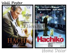 Hachi  A Dogs Tale Movie Home Decorative Painting White Kraft Paper Poster 42X30cm
