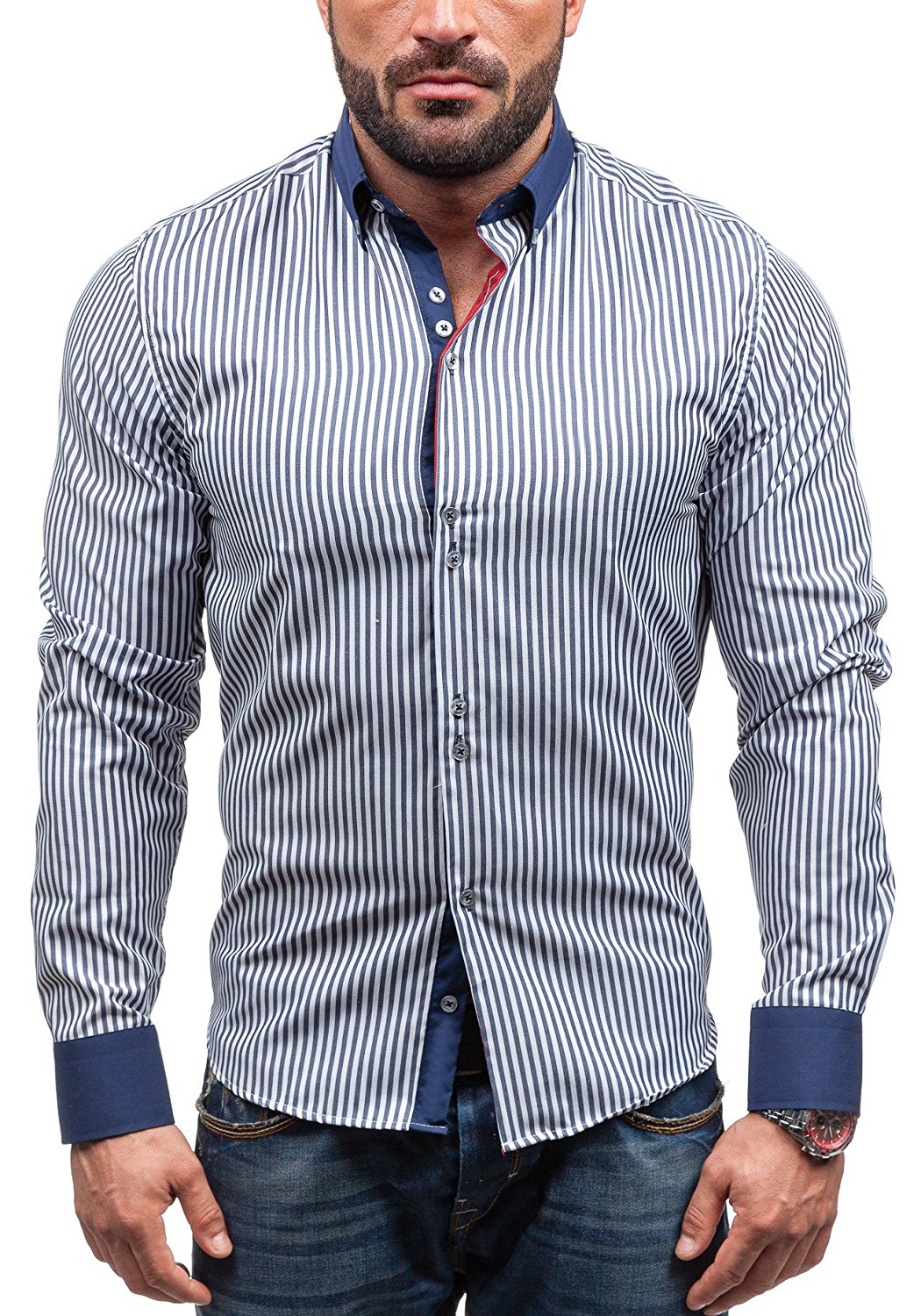Buy brand 2018 hot sale fashion male for Sale on mens dress shirts
