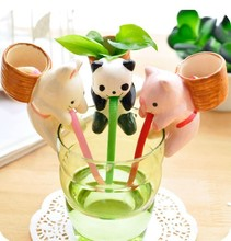 Animal hot water pot planting new ECOEY Desktop creative green plant thirst thirsty suck in