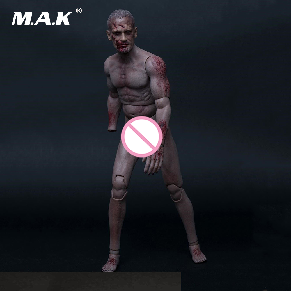 1/6 Scale Male Action Figure Durable Body & Head Male Walking Dead Figure Model Toy for Collection Gift купить недорого в Москве