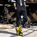 Черная Женщина брюк Брюки Женские 2017 Женщин Fahion Гарем Брюки Звезда Хлопок Hip Hop Брюки Для Женщин брюки