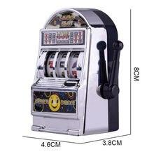 1pc sorte jackpot mini slot máquina anti-stress brinquedos educativos para crianças jogos presentes de aniversário crianças seguro máquina banco réplica