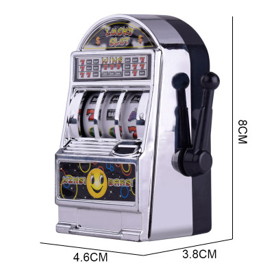 1pc Lucky Jackpot Mini Slot Machine Antistress Educational Toys for Children Games Birthday Gifts Kids Safe Machine Bank Replica image