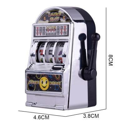 1pc Lucky Jackpot Mini Slot Machine Antistress Educational Toys for Children Games Birthday Gifts Kids Safe Machine Bank Replica