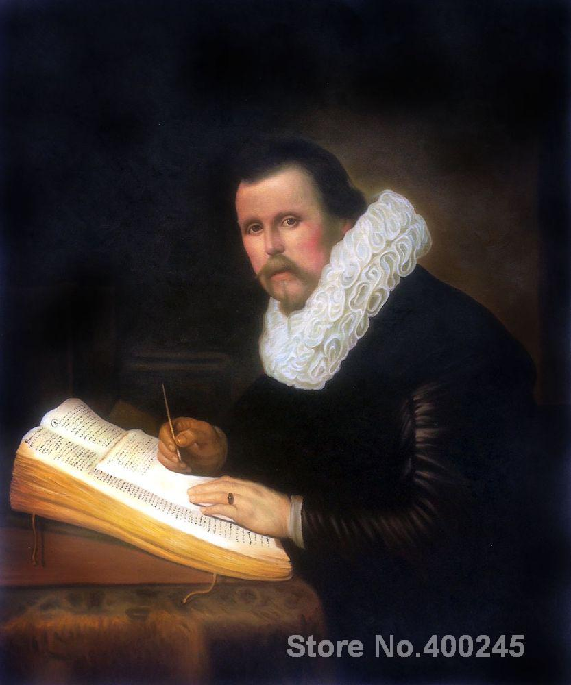 Christmas Gift art on Canvas A scholar by Rembrandt van Rijn Painting High Quality Handmade