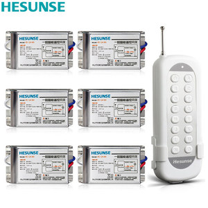 HS-QA161 2216W 1N6 85V-265V 6 Channels Wireless RF Remote Control Switch Learning Code Switch Through Walls