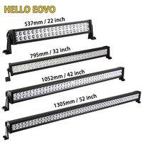 הלו EOVO 22 32 42 52 inch LED בר אור LED בר עבודה קל לנהיגה Offroad רכב טרקטור משאית 4x4 SUV טרקטורונים 12 V 24 V