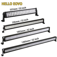 22 Inch 120W LED Light Bar Wiring Kit For Indicators Work Driving Offroad Boat Car Truck