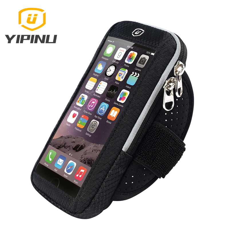 Yipinu Running bags Sports Exercise Running Gym Armband Pouch Holder Case Bag for Cell Phone Touch Screen Arm Bag 4-6 Inch