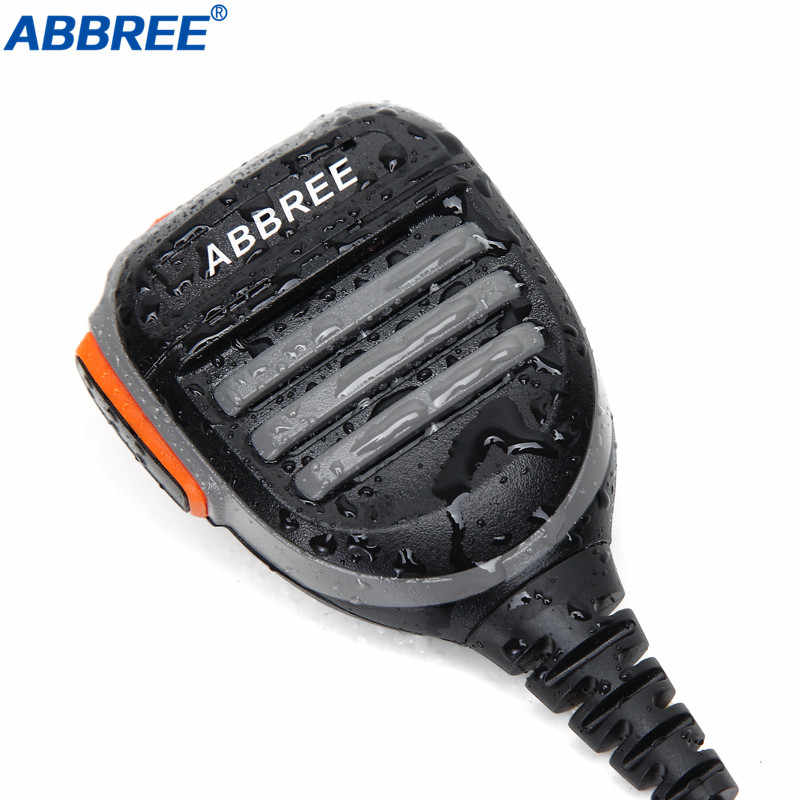Abbree PTT Remotel Regendicht Lautsprecher Mic Mikrofon für Baofeng Digitale Walkie Talkie DM-860 DM-1701 DM-X Two Way Radio