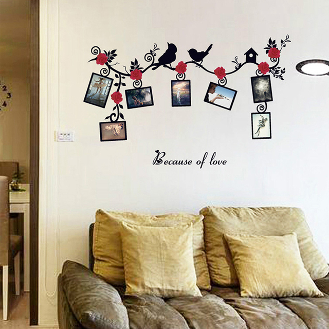 Hot Sale Wall Sticker Home Decorfamily Picture Photo Frame Tree Wall