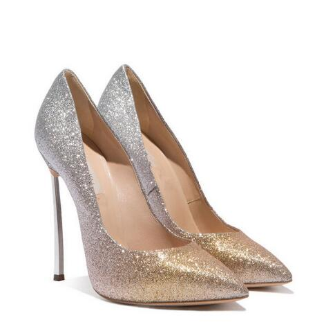 Sexy bling pointed toe high heel pumps for women Ladies'mixed-colors super high thin heel shoes Female high heels Dress shoes odetina brand sexy women pointed toe slingbacks pumps summer ladies super high heels black women thin stiletto heel dress shoes