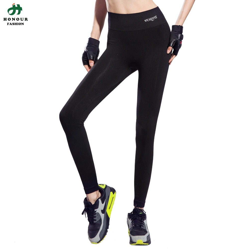 font b Women b font High Waist Stretched Full Length Sports Pants Gym Clothes Spandex