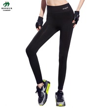 Women High Waist Stretched Full Length Sports Pants Gym Clothes Spandex Running Tights Sports Leggings Fitness Yoga Pants fy127