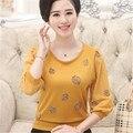 Осень и зима женская шею три четверти пуловер свободные большой ярдов Горный Хрусталь бисером кашемировый свитер бутик