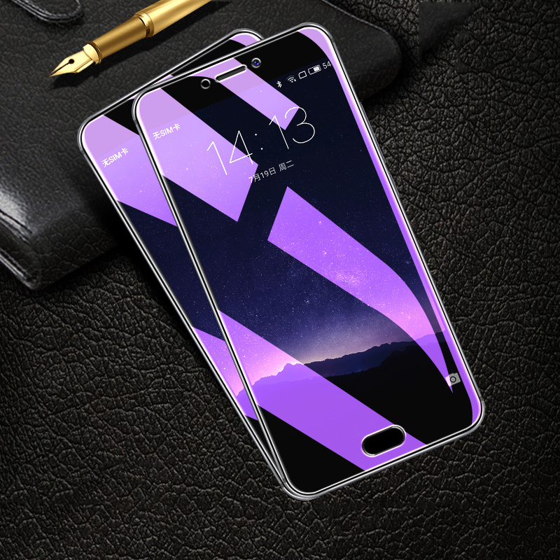 OriWood For Meizu M5 M6 Note MX6 M6 S M5 M5S M5C M3S M6T Full Cover Anti Blue Tempered Glass Purple Light Screen Protector Film