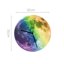 Modern Design 3D Luminous Large Moon Wall Clocks Home Decor Guess Watch Mechanism Quartz Reloj De Pared ZB115