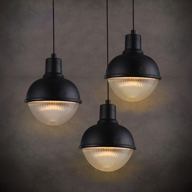 Nordic Glass Country Style Loft Industrial Lamp Vintage Pendant Lights Fixtures Hanging Light Lamparas Colgantes Lampe