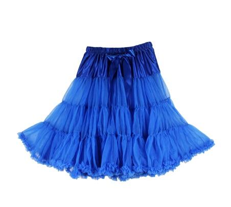 Евро ЗО, проверка, Нижняя юбка для женщин, шифоновая юбка-американка, юбка-пачка для взрослых, бальное платье, для танцев, летняя, 65 см, длинная юбка, сексуальная, однослойная - Цвет: royal blue