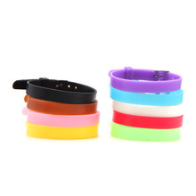 Keamsty 8mm Kids Keeper Neon Silicone Strap for Children Keeper Charms Bracelet suit for 8mm Slide Charms(China)