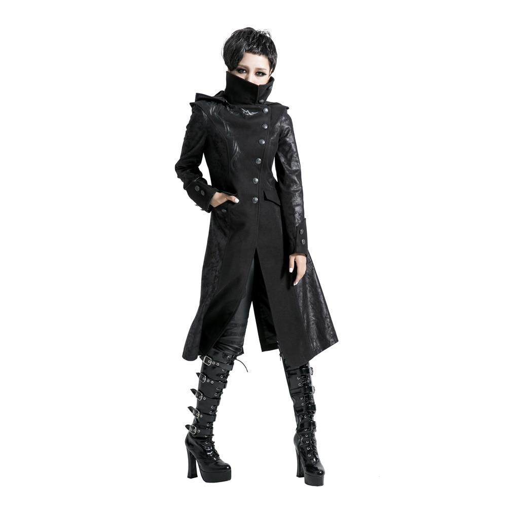 Rock Women Punk Stream Long Jacket Coat Hoodie daft Visual Kei Gothic Y420F