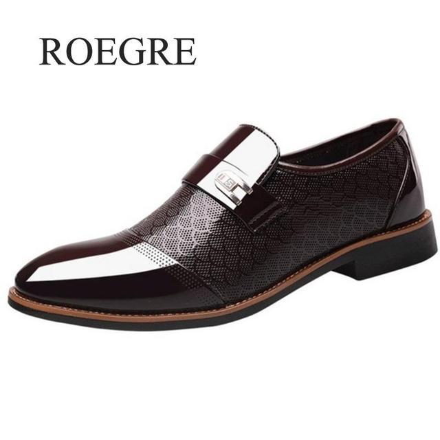 גודל 38-48 אופנה עסקים שמלת גברים נעלי 2019 חדש קלאסי עור גברים של חליפות נעלי אופנה להחליק על שמלת נעלי גברים נעלי אוקספורד